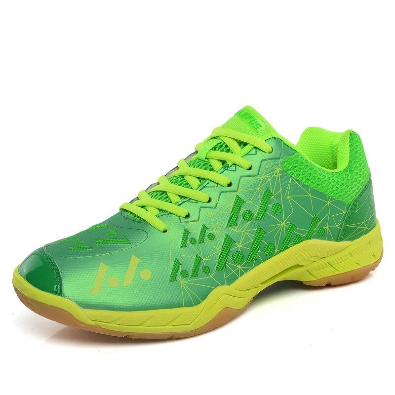 2019 offre spéciale chaussures de Tennis hommes femmes chaussures à lacets Badminton en cuir Couples en caoutchouc en cuir Tennis de Table baskets