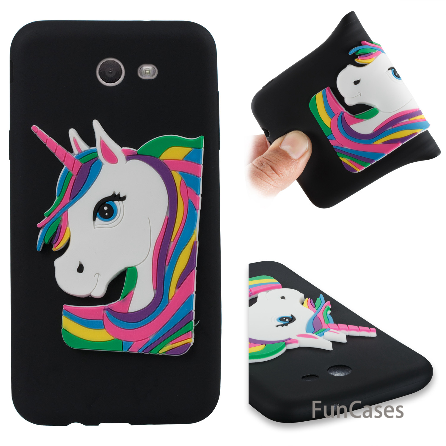 Cartoon Unicorn Case sFor Funda Samsung J7 2017 US Version Soft Silicone Phone Case Hoesje Case Samsung Galaxy J720 US Version