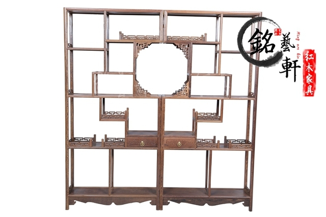 Shelf wenge wood mahogany furniture of Ming and Qing classical antique curio shelf display stand