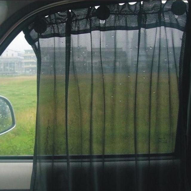 Car Sun Shade Curtain Vehicle Window Block Sunshine Screen Auto Interior UV  Protection Mesh Fabric Autos