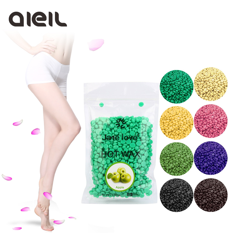 50g No Strip Depilatory Epilator Hot Film Hard Wax Pellet Waxing Bikini Hair Removal Bean Hair Removal Beans Depilatory Wax