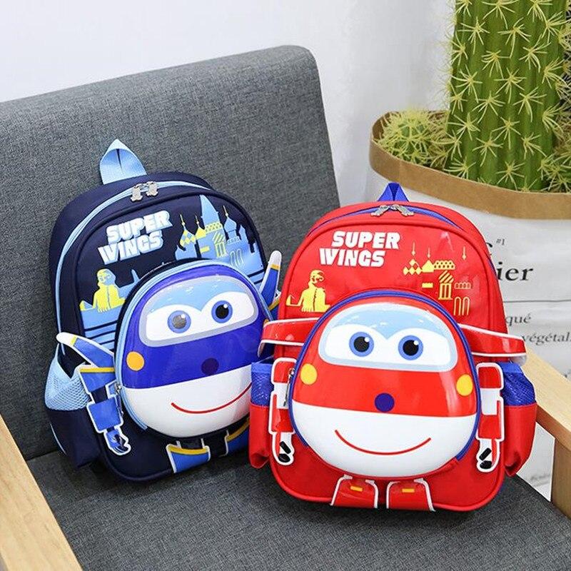 3D Style Children Backpacks Kindergarten Girls Boys Baby Backpack New Fashion Cartoon Super Wings Cute Kid School Bags