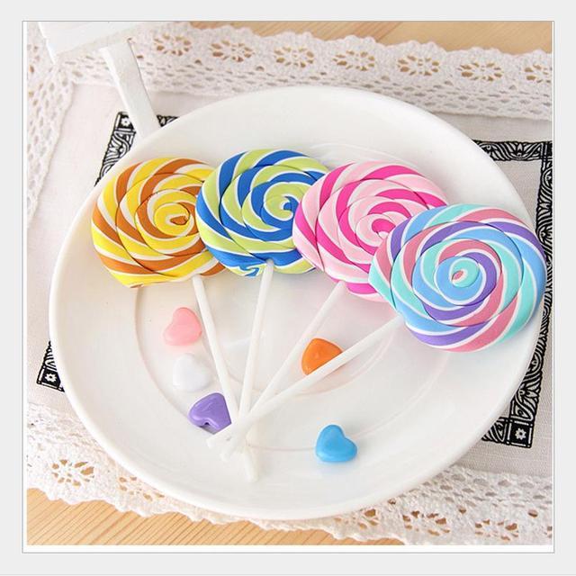 Лидер продаж Симпатичные Kawaii мультфильм Lollipop резиновые оребрением Ластики для детей прекрасный творческий канцелярские подарок 00603