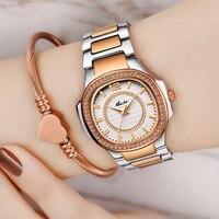 MissFox Лидер продаж женские часы Waches Uhr розовое золото модные повседневные женские наручные часы Xfcs дропшиппинг 2019 кварцевые наручные часы