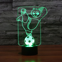 RGB KUFU Panda Night Lighting 7 Color Changing USB Night Lamp Creative Gifts 3D Deco Vision