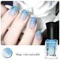 1 Bottle 6ml Color Changing Nail Polish Peel Off Polish with Paillette Blue to Transparent