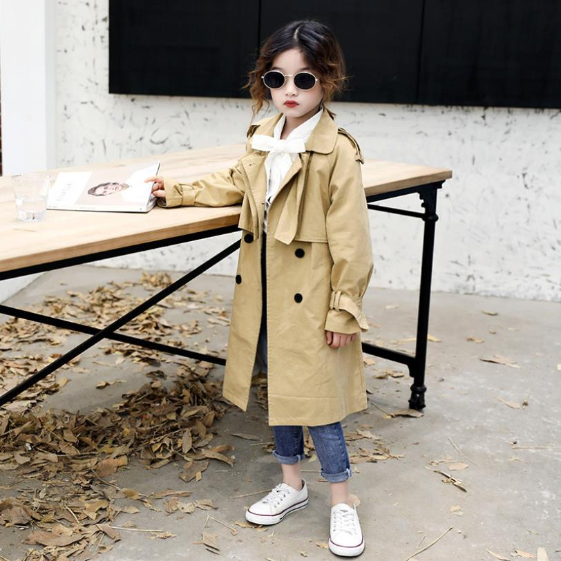 Children baby girl spring autumn new trench coats 2019 Korean style fashion belt loose Jackets kids teens outerwear ws382|Trench| |  - title=