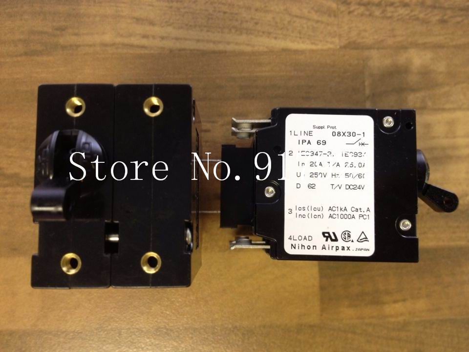 [ZOB] The United States AIRPAX Ebers 1LINE08X30-11PA69 2P20A 250V original equipment of circuit breaker  --5pcs/lot