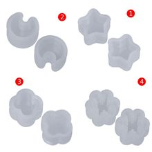8 Pcs Silicone Mold Ear Stud DIY Jewelry Making Snowflake Moon Star Flower Shape Mini Small Molds Epoxy Resin Crafts Tools sketch small picture mini resin plaster ornaments small head 6 7 cm tall 10 pcs set