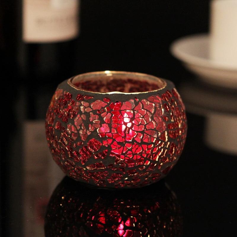 red glass candle holder promotion shop for promotional red glass candle holder on. Black Bedroom Furniture Sets. Home Design Ideas