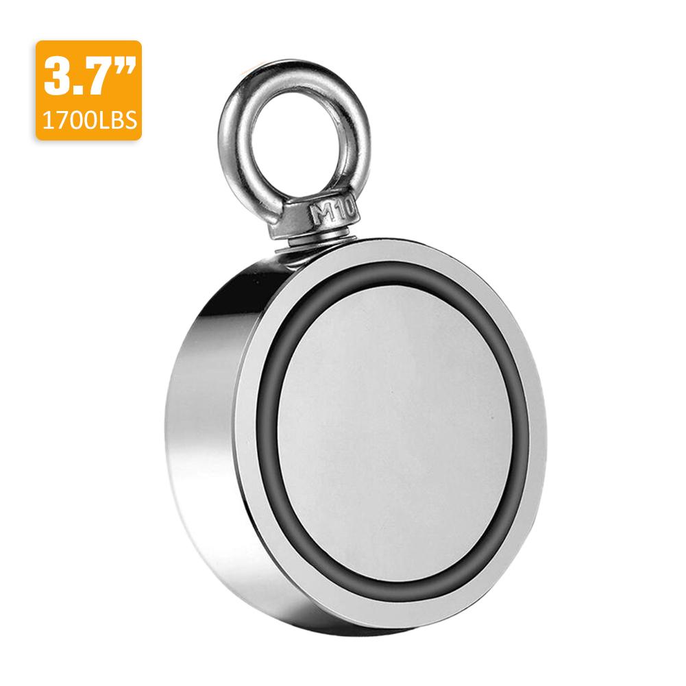 Double-Sided Magnetic Ring Super Powerful Fishing Magnets Salvage Magnetic Ring Hook For Fishing Lifting Hanging Retrieving