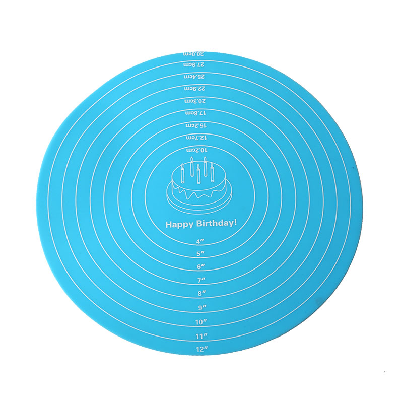 12inch Round Silicone Pastry Mat with Measurements for ...