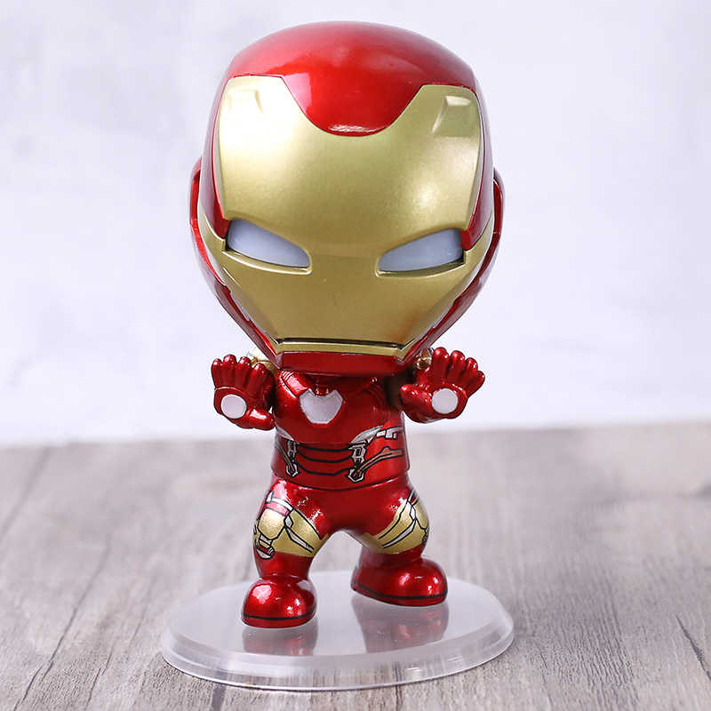 IRON MAN Mark 7 Hero/'s Edition with Removed Mask 10cm PVC Figure IN Box