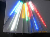10sets/lot SMD5050 RGB Colorful Led Meteor Shower Lights Led Tube 12 * 500 Mm10 Pcs/set 48 Leds/pc