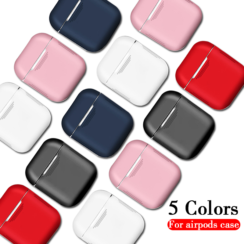 Soft Silicone Case For Apple Airpods Shockproof Cover For Air Pods Earphone Cases Ultra Thin <font><b>i12</b></font> <font><b>TWS</b></font> i10 i11 i7 Protector Case image