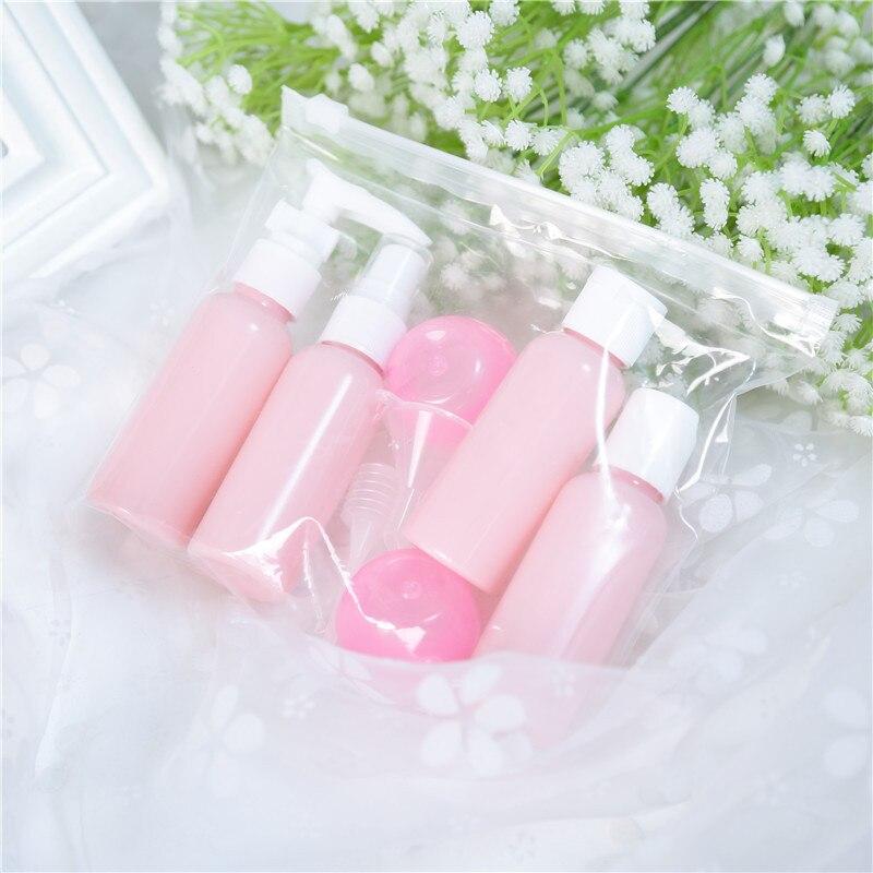 Image 5 - Garrafas de viagem recarregáveis conjunto pacote cosméticos  garrafas plástico pressionando spray garrafa maquiagem kit ferramentas  para viagem vaporizadorGarrafas reutilizáveis