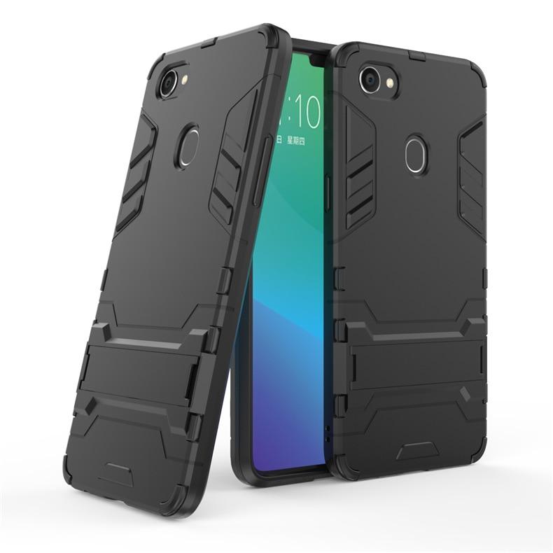 Slim Robot Armor Rubber Phone Case For Oppo F7 Full Cover For OPPO F 7 Shockproof fundas For OPPO F7 2018 6.23 Inch Cases Capa