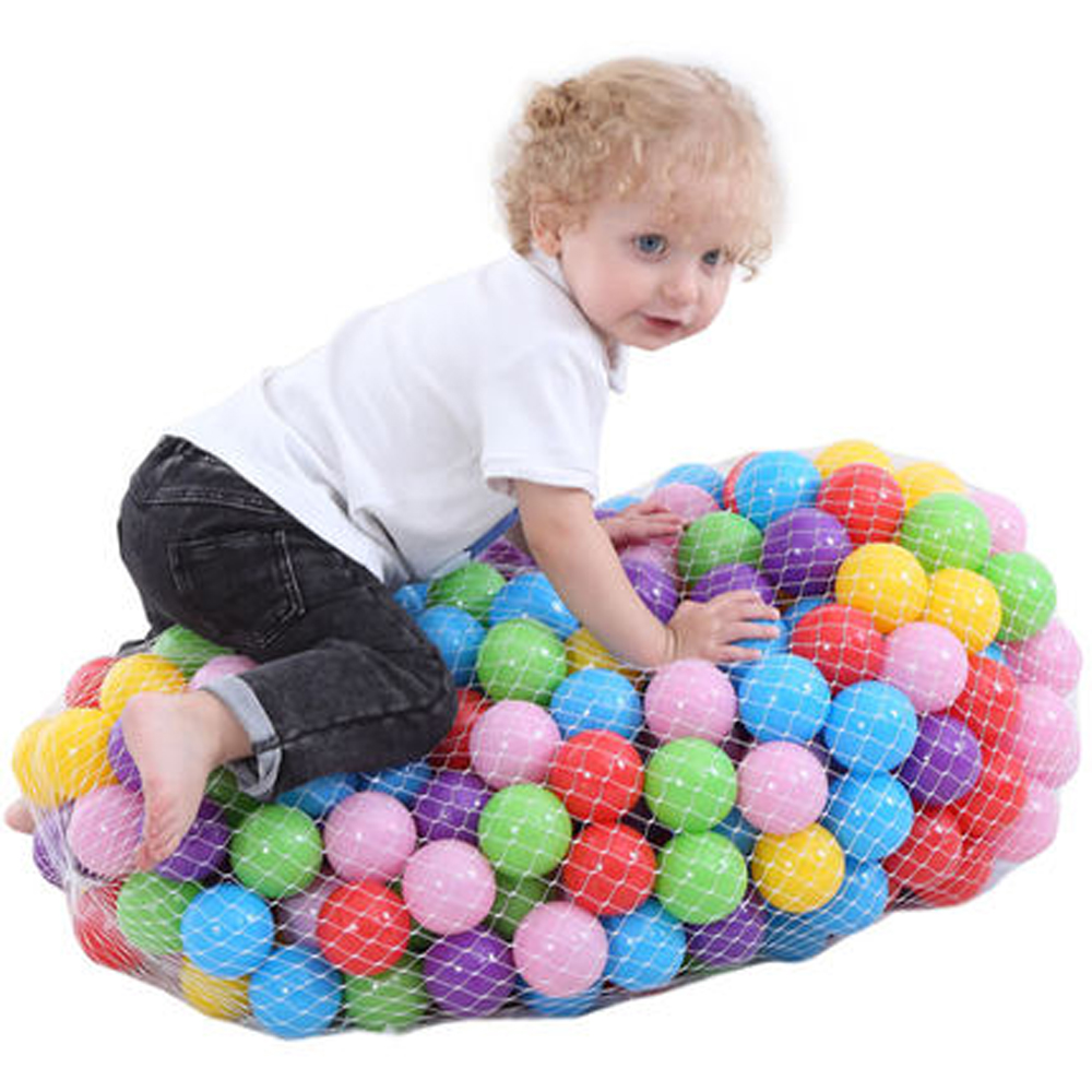 400 Pcs/Lot Plastic Ocean Wave Ball Pits Yellow Red Pink Pool Balls Toys For Children Soft Plastic Balls For Dry Pool 5.5 Cm