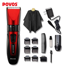 POVOS Waterproof  LED Show Rechargeable Electric Hair Clipper Hair Trimmers Professional Cutting Haircut  Styling Tools PW230