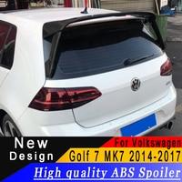 For Volkswagen Golf 7 Golf 7.5 MK7 MK7.5 2014 2018 Spoiler ABS three section large racing wing primer or black or white spoiler