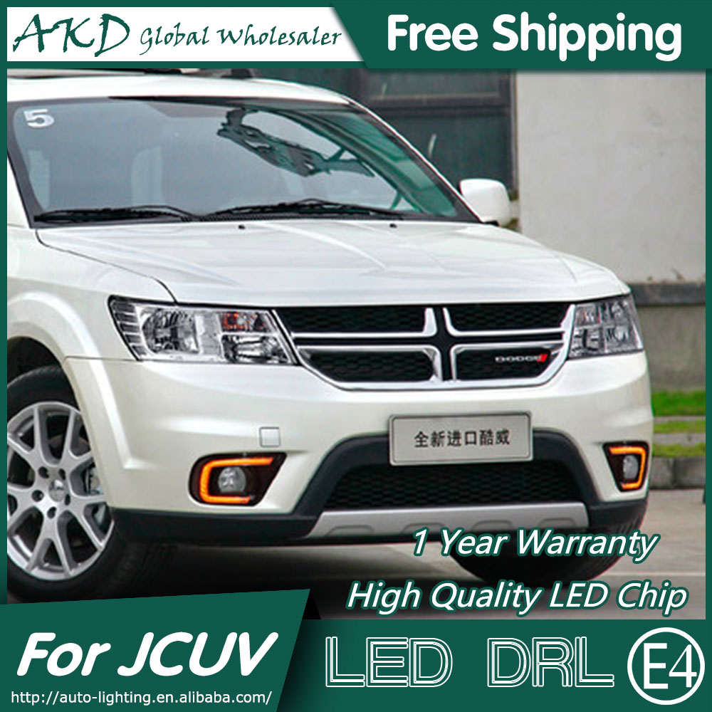 AKD Car Styling for Dodge JCUV LED DRL 2014-2015 Journey LED Daytime Running Light Fog Light Signal Parking Accessories akd car styling for kia sportage r drl 2014 new sportager led drl korea design led running light fog light parking accessories