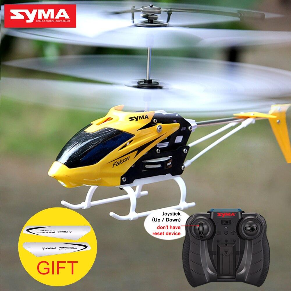 Syma oficial W25 RC helicóptero 2 CH 2 canal Mini Drone RC con Gyro Crash resistente RC juguetes para niño niños regalo rojo amarillo