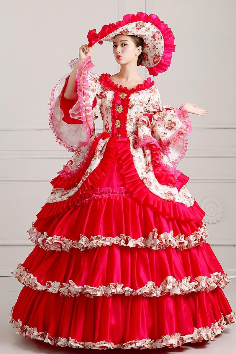 ᐅLibre PP S-3XL Deluxe medieval renacimiento princesa reina traje ...