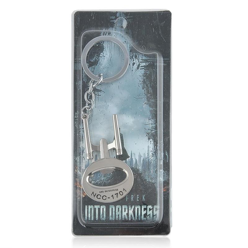 Movie Star Trek Communicator Darkness Starfleet Command Surounding Pendant Keychain keyring for fans men with retail package