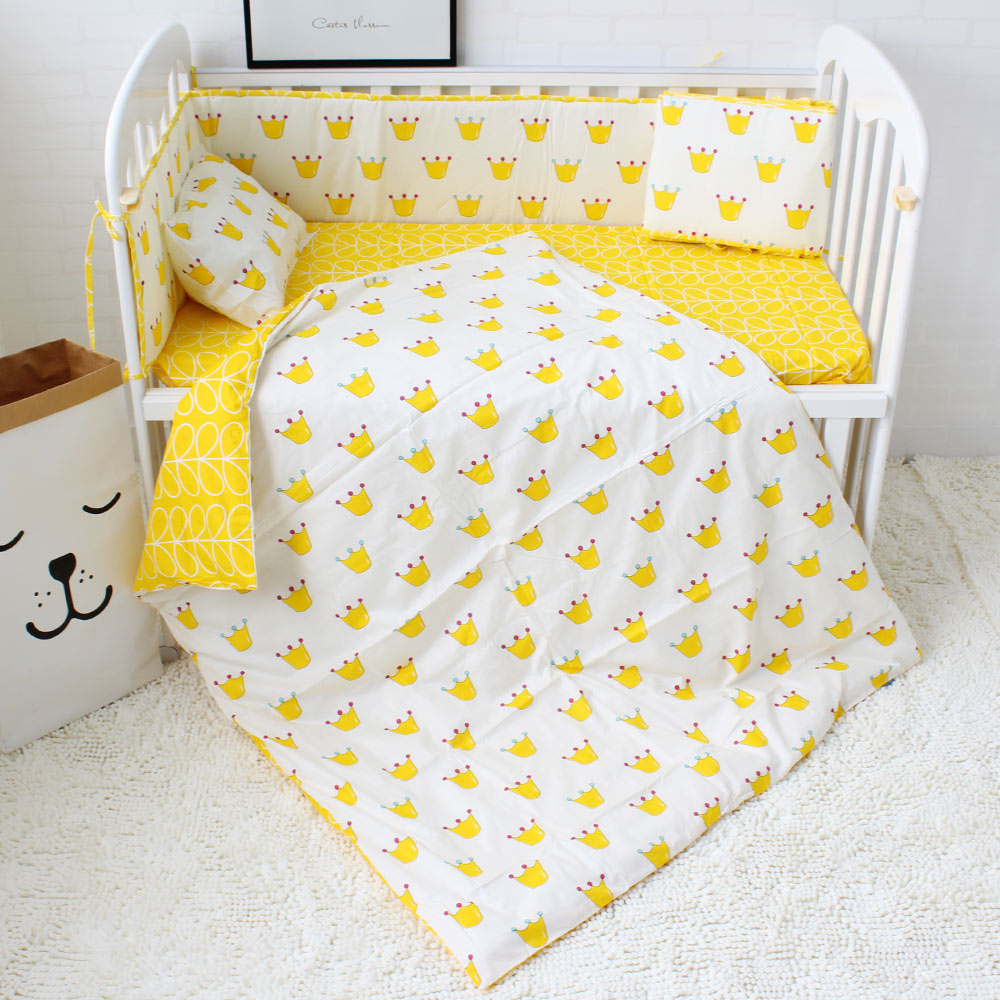 Baby bed sheet pattern - Aliexpress Com Buy 7pcs Baby Bedding Set Gray Star Horse Crown Pattern Bed Linen For Newborns Baby Sheet Bumpers Pillow Quilt With Filling From Reliable