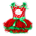 New Chirstmas Tree Kids Girl Dress TUTU Baby Children Princess Clothing Infant Dress With Bow Girl's Party Dress Infant Dress