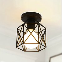 Cage Shaped Industrial Retro Ceiling Light Iron Material E27 Outdoor Lighting Modern Led Ceiling Lights For