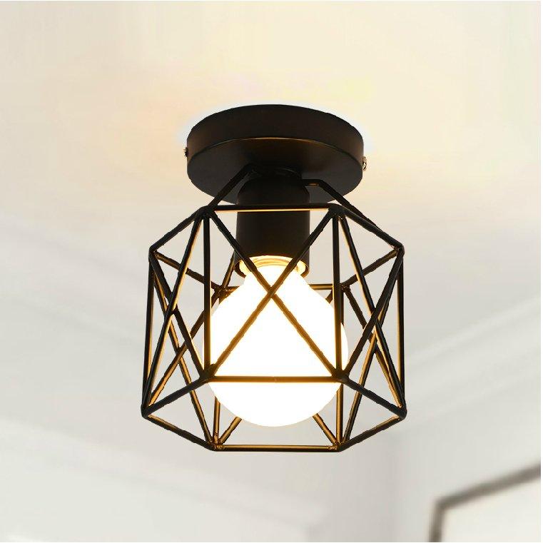Kfig Geformt Industrie Retro Deckenleuchte Eisen Material E27 Beleuchtung Moderne Led Deckenleuchten Fr Wohnzimmer