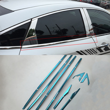 Car body kits  stainless steel window frame trims down Pedal Car Sticker For HONDA CIVIC 2017 car body kits front foglight trims car sticker for honda civic 2017 abs chrome