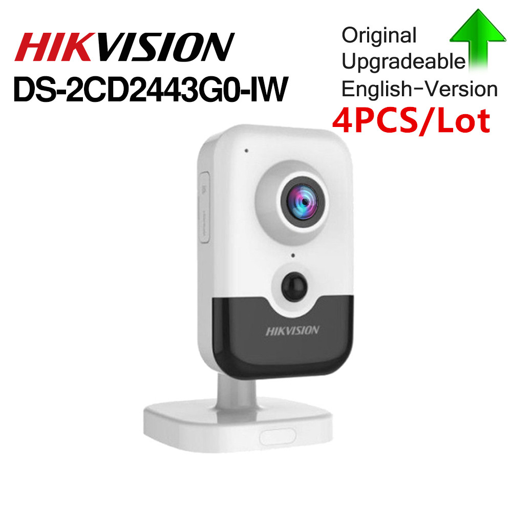 Hikvision Originale 4MP Video di Sorveglianza Macchina Fotografica Senza Fili DS-2CD2443G0-IW Built-In Altoparlante Macchina Fotografica del IP di H.265 onvif IndoorHikvision Originale 4MP Video di Sorveglianza Macchina Fotografica Senza Fili DS-2CD2443G0-IW Built-In Altoparlante Macchina Fotografica del IP di H.265 onvif Indoor