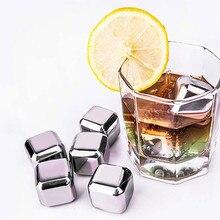 Кубики льда из нержавеющей стали многоразовые металлические охлаждающие камни с виски держать холодом из нержавеющей стали кубики льда клип