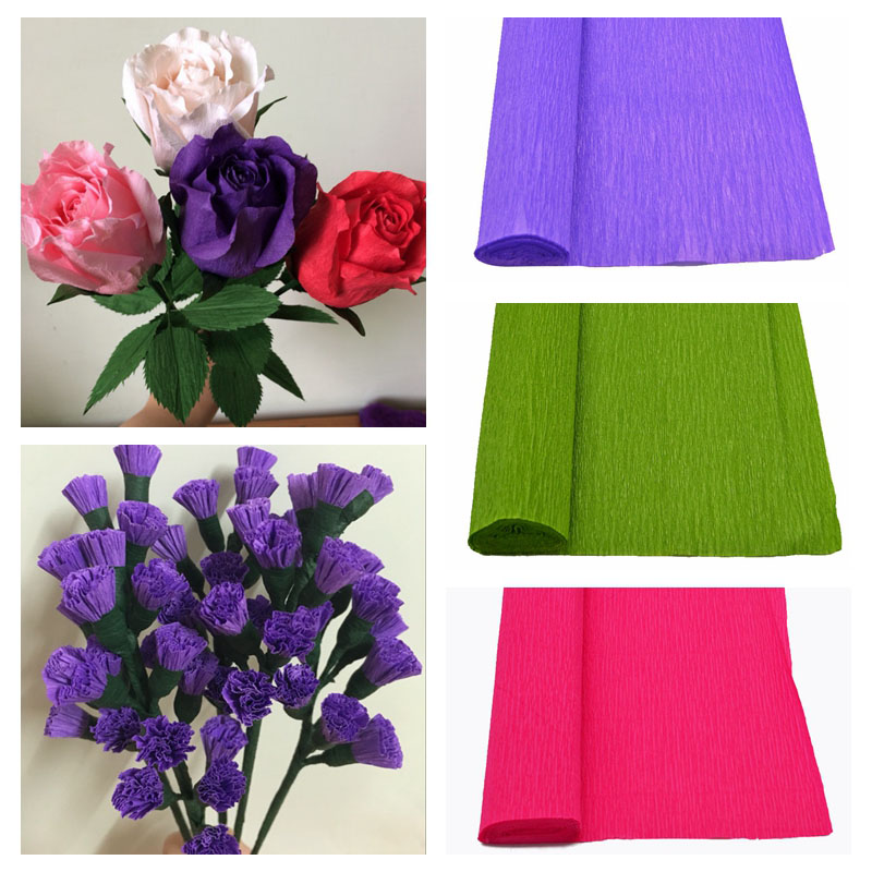 1 Roll Crepe Paper Artificial Paper Craft Paper Flower