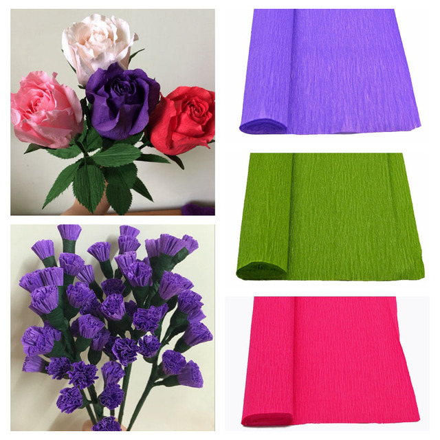 1 Roll Crepe Paper Artificial Paper Craft Paper Flower Wrapping