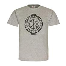 Infidel Kompass Vegvisir Compass Nordisch Germanen Vikings Runen T-Shirt #20295 Harajuku Tops Fashion Classic Unique t-Shirt