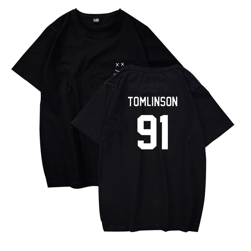 LUCKYFRIDAYF Louis Tomlinson 91   t  -  shirts   fashion round neck men women   t     shirts   summer casual tops tee   shirt   short sleeve   t  -  shirt