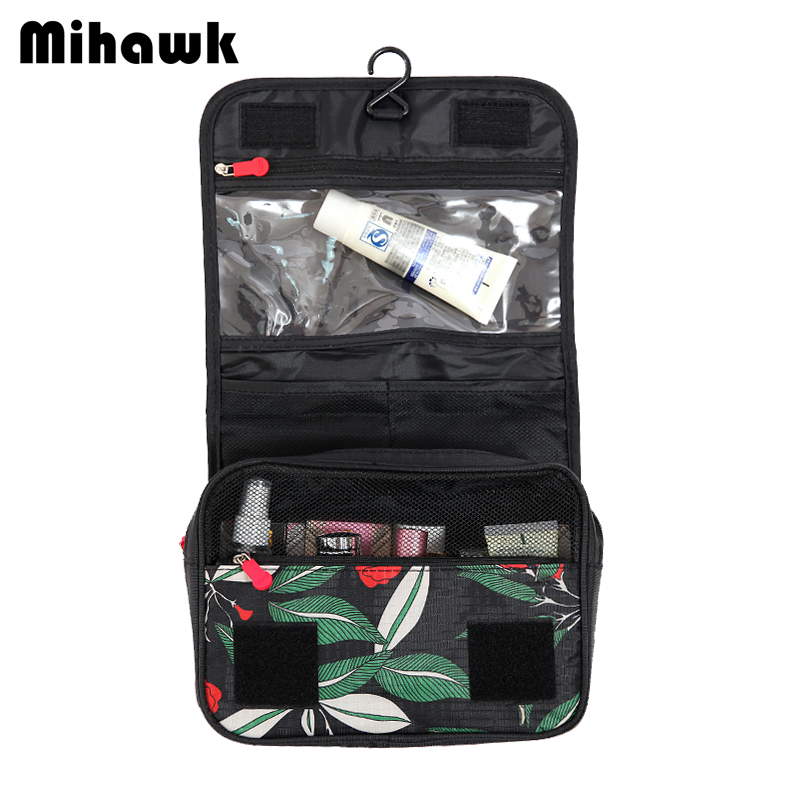 Mihawk Hanging Cosmetic Toiletry Bag Travel Organizer Beautician Necessaire Functional Makeup Wash Pouch Accessories Products mihawk women s fashion animal portable handbags shoulder pouch messenger pouch storage belongings organizer accessories products