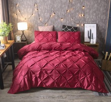 High-grade bedding, hand-painted, plain, three-piece, large bed cover, simple and stylish polyester fiber,  customiza