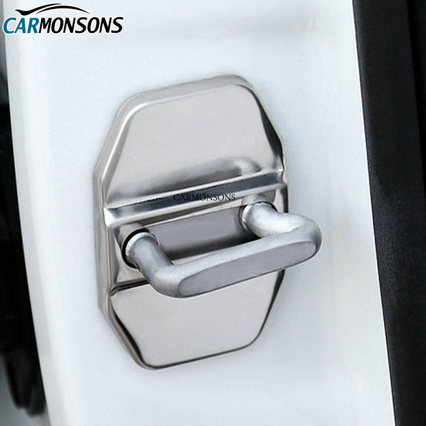 4 Pcs/lot for Mercedes Benz C E M GLK GLA CLA Class W203 W213 W204 Car Door Lock Cover Sticker Protective Case Trim Car Styling