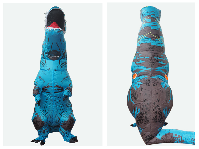 Adult T REX Costume Inflatable Dinosaur Party Costume Suit For Anime disfraces adultos costume Halloween Costumes for Women Men (5)