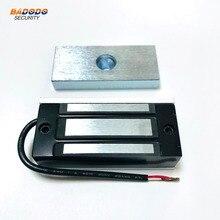 シングルドア電子電磁ドアロック磁気ロック 60 キロ/100Lbs ホームアクセス制御ショーケースキャビネットガラスドア
