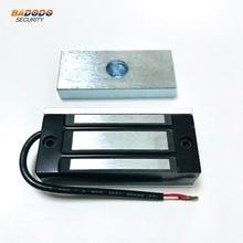 Pojedyncze drzwi elektroniczny zamek elektromagnetyczny zamek magnetyczny 60 KG/100Lbs do kontroli dostępu do domu wizytówka szafka ze szklanymi drzwiami