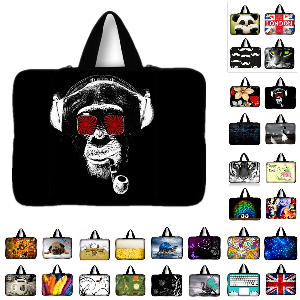 Multicolor Soft Laptop Sleeve 10.1 11 13 15 15.6 inch Laptop Bag Case For Macbook Air 13 Pro Retina 15 Notebook Bags 12 14