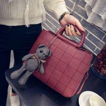 2017 New Women's Crossbody bag PU Leather Korean Style Handbag Lady Handbags Women Solid Messenger Bags