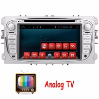 Analog TV 2Din In Dash Android Car DVD Player For Ford/Mondeo/Focus With Dual Core Wifi GPS Navigation Steering wheel control