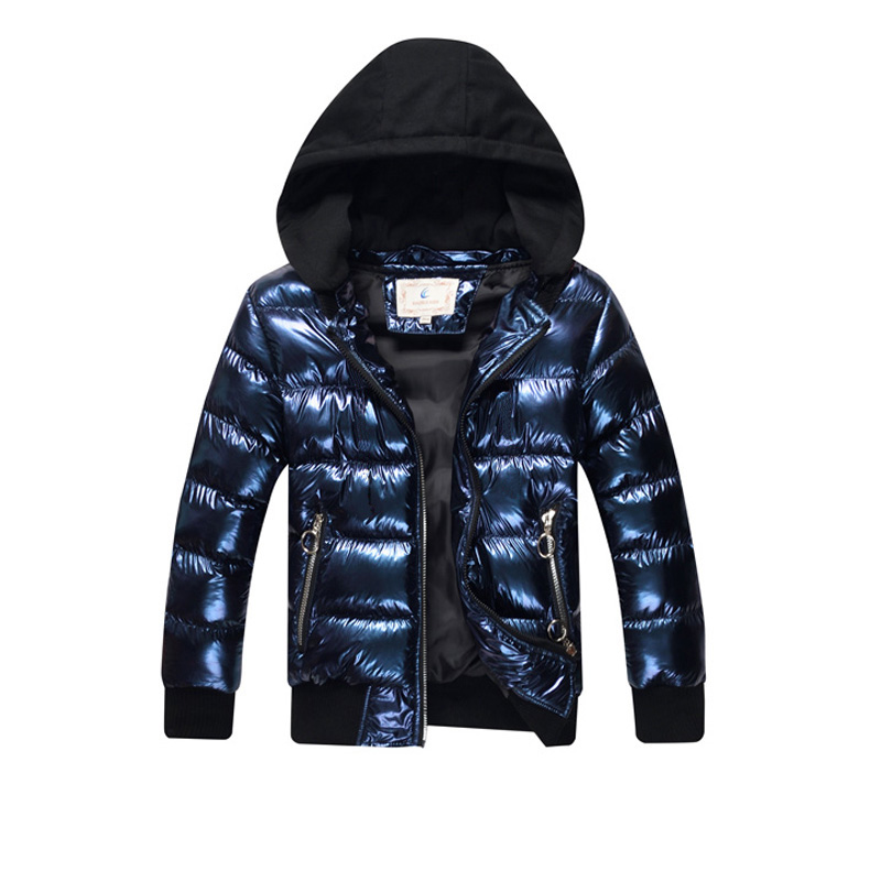 Children Winter Boys Parka Thickening Warm Hooded Outerwear & Coats Casual Big Boys Jacket 2018 BC407