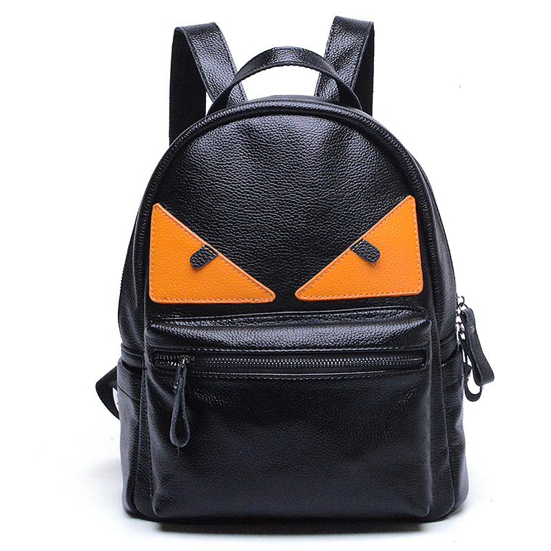Korean Fashion small monster genuine leather women backpack Small women s travel bags leisure Mini Senior
